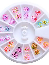 1PC Neglekunst Klistermærke Rhinsten Negle Smykker Blomst Smuk Makeup Kosmetik Neglekunst Design
