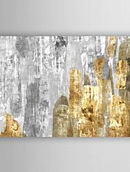 ručně malované olejomalba abstraktní smíšené Metallics s nataženém rámu 7 stěny arts®