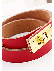 cheap -Leather Bracelet - Leather Bracelet Blue / Light Brown / Dark Brown For Wedding Party Daily