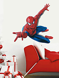 cheap -Superhero Spider-Man Wall Stickers Cartoon Children's Room Bedroom Wall Art PVC Wall Decals