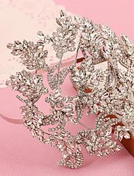 baratos -Mulheres Menina das Flores Strass Crostal Capacete-Casamento Ocasião Especial Ao ar Livre Bandanas 1 Peça
