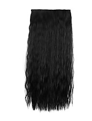Black Length 60CM Synthetic Europe and The United States a Chip Five Hot Style Clip(Color 1BJ)