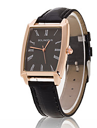 cheap -Men's Luxury Black/Brown Leather Band Black Case Military Sports Style Watch Jewelry Wrist Watch Cool Watch Unique Watch Fashion Watch