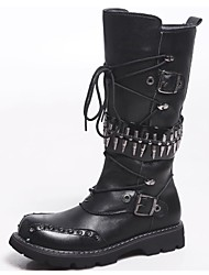 cheap -Men's Shoes Outdoor / Office & Career / Party & Evening / Dress / Casual Synthetic Boots Black