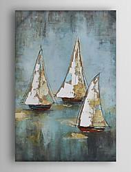 ručně malované olejomalba krajina vyplula loď s nataženém rámu 7 stěny arts®