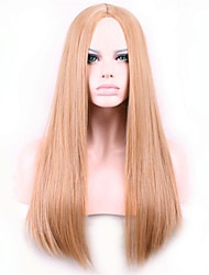 cheap -Best-selling Europe And The United States Long Straight Hair Wig Wig Light Brown