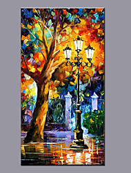 Big Size Canvas Oil Painting Hand Painted Modern Abstract Landscape Wall Art With Stretched Frame Ready To Hang