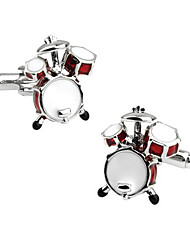 cheap -Men's Fashion Drum Style Silver Alloy French Shirt Cufflinks (1-Pair) Christmas Gifts