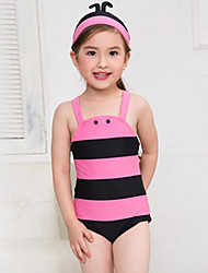 cheap -Girl's Summer  Honeybee  Printing Swimming Swimming Cap One-piece Bathing Suit