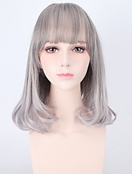 High Quality Grey Color Lolita Natural Wig High Temperature Synthetic Wigs Heat Resistant
