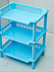 baratos -área de trabalho em rack prateleira quadrado de plástico de cozinha casa de banho de armazenamento rack de três camadas
