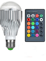 abordables -10W E26/E27 Ampoules Globe LED A50 1 LED Haute Puissance 600-800 lm RVB Commandée à Distance AC 85-265 V 1 pièce