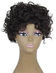abordables -Pelucas sintéticas Rizado / Afro Pelo sintético Peluca Mujer Sin Tapa