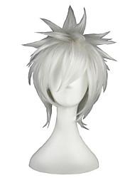 Недорогие -Парики из искусственных волос Прямой Белый Жен. Без шапочки-основы Парики для косплей Искусственные волосы