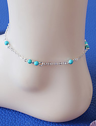 cheap -Women's Anklet / Bracelet Resin Turquoise Alloy Personalized Vintage Handmade Fashion Anklet Jewelry For Party Daily Casual