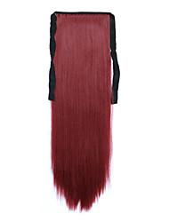 rouge longueur 60cm type bind synthétique longue ligne droite prêle perruque de cheveux (couleur 118)