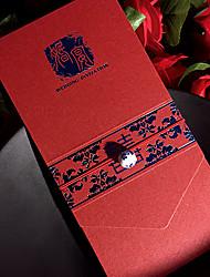 Zabalení do kapsy Svatební Pozvánky 50-Pozvánky Pozvánky na zásnubní večírek Umělecký styl Perlový papír