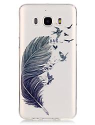 Недорогие -Кейс для Назначение SSamsung Galaxy Кейс для  Samsung Galaxy Прозрачный  Перья для