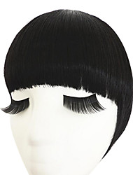 Natural black With Hair Hoop Double Temples To Neat Bang(Natural Black)