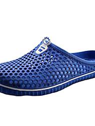 abordables -Homme Chaussures Silicone Printemps Eté trou Chaussures Confort Sandales Marche Chaussures d'Eau pour Décontracté De plein air Blanc Noir