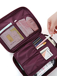 cheap -Unisex Bags PVC / Nonwoven Cosmetic Bag / Bi-fold Zipper for Professioanl Use Blue / Pink / Wine