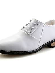 Men's Shoes PU Spring Fall Comfort Oxfords For Wedding Casual Office & Career Party & Evening White Black Red