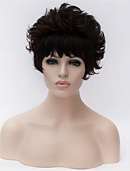 cheap -Best-selling Europe And The United States A Wig Middle-Aged And Old Black Short Curly wig