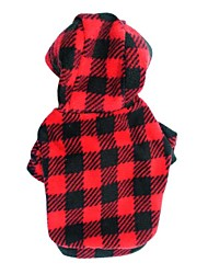 economico -Gatto / Cane Felpe con cappuccio Abbigliamento per cani A pois / A quadri Rose / Nero / Rosso Pile Costume Per animali domestici Per uomo / Per donna Di tendenza
