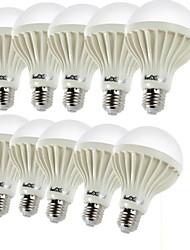 abordables -YouOKLight 10pcs 3W 150-200lm E26 / E27 Ampoules Globe LED C35 12 Perles LED SMD 5630 Décorative Blanc Chaud 220-240V