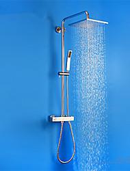 abordables -Moderno Sistema ducha Ducha lluvia Con Termostato Válvula Cerámica Cromo, Grifo de ducha