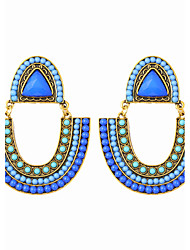 Bohemian Beads U-shaped Beach Holiday Style Earrings Elegant Style