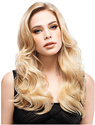 Women Long Body Curly Wavy Synthetic Hair Wig Blonde Heat Resistant Fiber Cheap Cosplay Party Wig Hair