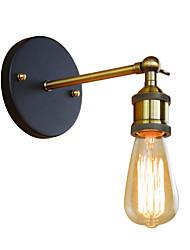 baratos -Luminária de parede mini industrial retro rústico sotão antigo lâmpada de parede edison tubo vintage arandela