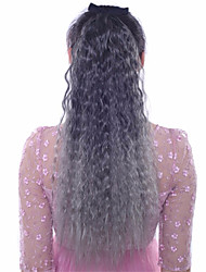 abordables -Extensiones Naturales Extensiones sintéticas Ondulado Pelo sintético Larga La extensión del pelo Con Clip 1pc Mujer Diario