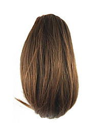 Недорогие -длина коричневый парик 26см синтетический прямой высокой температуры проволоки захватами маленький хвостик цвет 2009