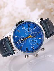 cheap -Men's Wrist Watch Casual Watch Leather Band Black / White / Tianqiu 377