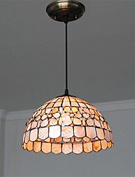 cheap -14 inch Retro Tiffany Pendant Lights Shell Shade Living Room Dining Room light Fixture