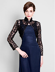 Wedding  Wraps Shrugs Long Sleeve Lace Black Wedding Party/Evening