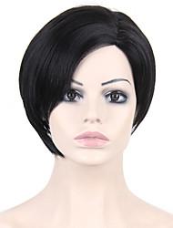 odolné proti žáru levné falešné vlasy paruka černé krátké syntetické paruky pro ženy