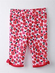 Mädchen Hose Blumen Baumwolle Frühling / Herbst Rot