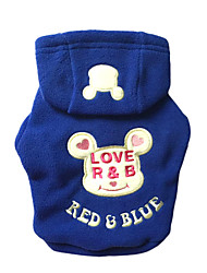 cheap -Cat Dog Hoodie Dog Clothes Casual/Daily Bear Black Rose Blue Costume For Pets