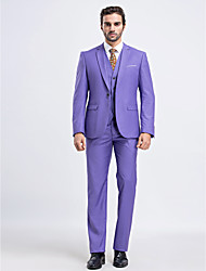 Suits Slim Fit Slim Notch Single Breasted One-button 3 Pieces Straight Flapped