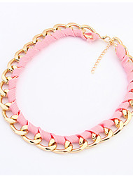 Necklace Choker Necklaces Jewelry Wedding / Party / Daily / Casual Alloy Black / Yellow / Green / Pink 1pc Gift