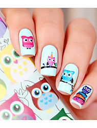cheap -Cartoon Owl Nail Art Water Decals Transfer Sticker BORN PRETTY