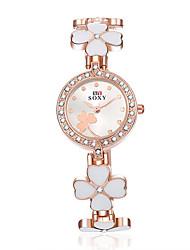 cheap -Women's SOXY Flowers Luxury Brand Quartz Dress Wristwatch Diamond Dial Fashion Bracelet Watches(Assorted colors) Cool Watches Unique Watches