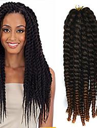preiswerte -12-24 Zoll Häkeln Geflecht havanna mambo afro Twist Haarverlängerung schwarz bis hellkastanienbraun