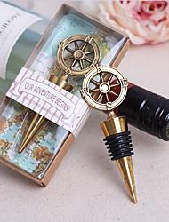 economico -bottigliette a tema classico portabottiglie cromato con bomboniere ad anello
