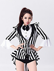 cheap -Jazz Leotards Women's Performance Cotton Polyester Bow(s) 3/4 Length Sleeves High Leotard / Onesie Neckwear