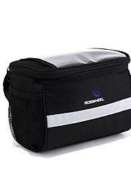 ROSWHEEL Bike Bag 4.5LBike Handlebar Bag Waterproof Zipper Wearable Moistureproof Shockproof Bicycle Bag PVC 600D Polyester Cycle Bag