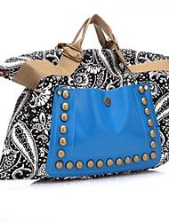 Damen Taschen Ganzjährig Leinwand Umhängetasche für Normal Blau